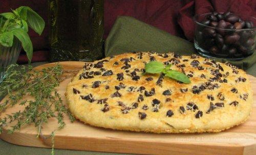 Olive Basil Focacia